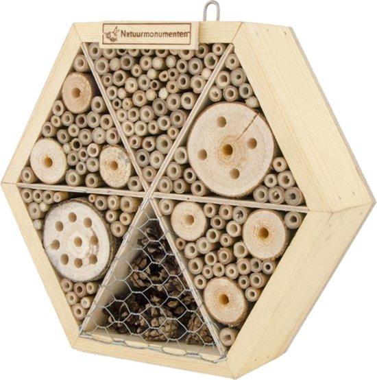 Natuurmonumenten Insectenhuis Zeshoek - Nestkast - Medium