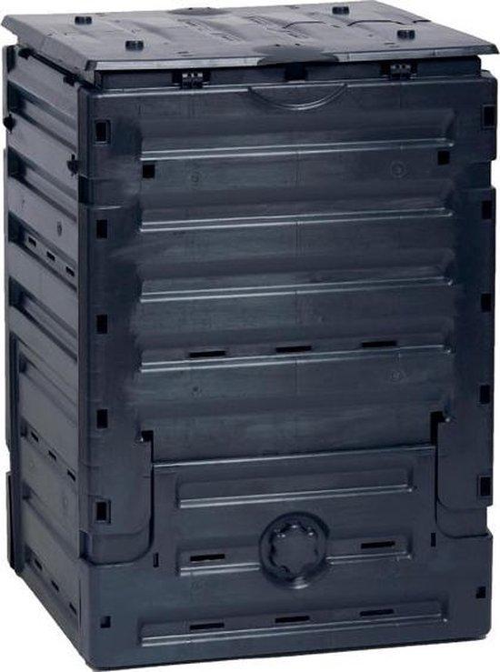 Tuincomposter Eco-master 300Liter - zwart 60x60x90 cm